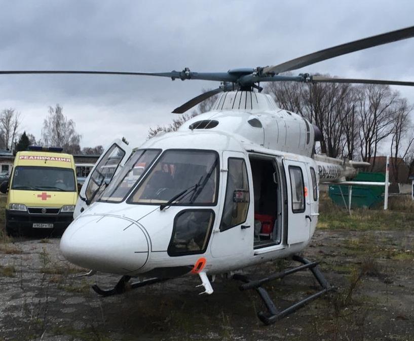 Больного коклюшем малыша доставили вертолетом изЛыскова вНижний Новгород