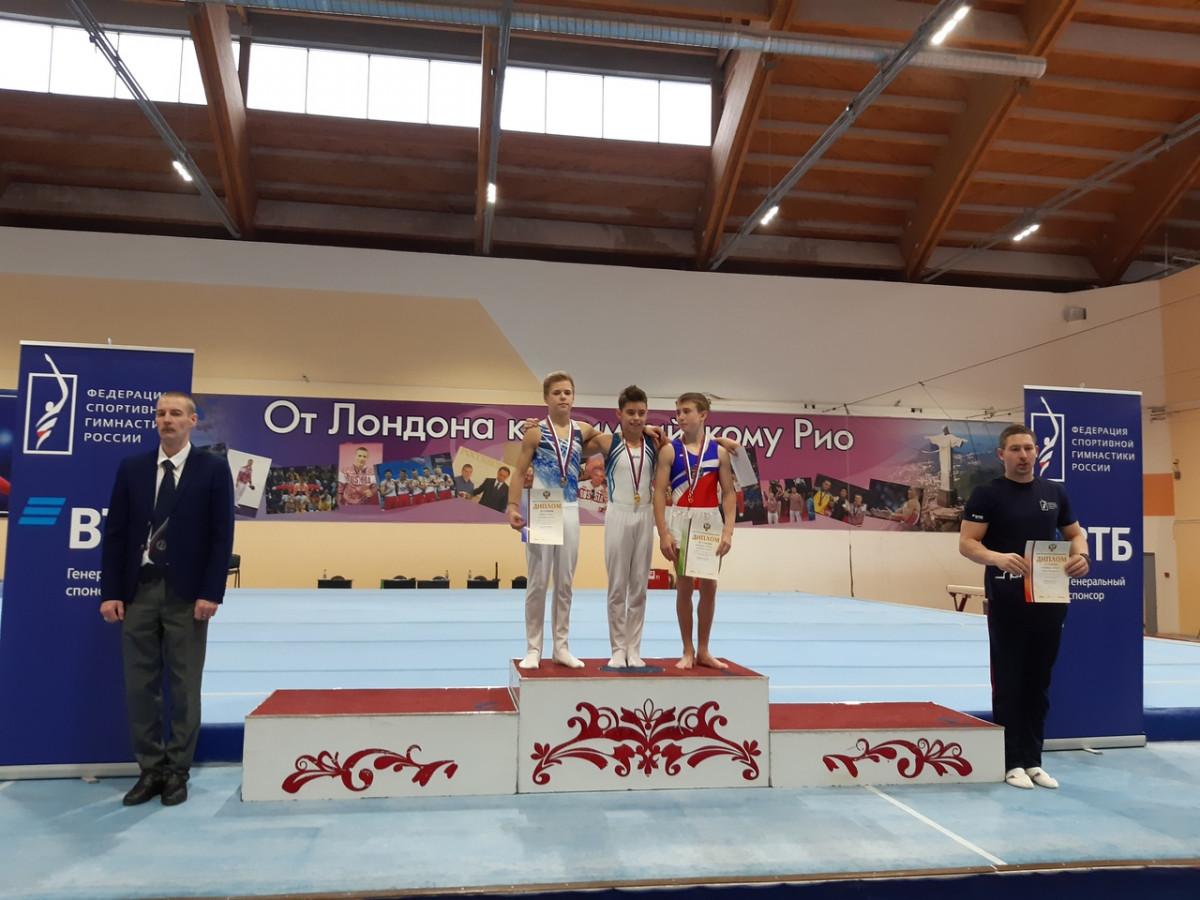Дзержинские гимнасты стали призерами первенства России