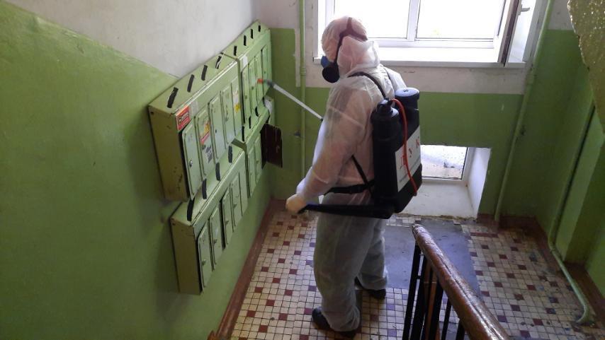 Дезинфекцию подъездов провели в9 тысячах домов Нижнего Новгорода