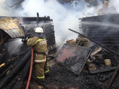 Человек погиб напожаре вШатковском районе