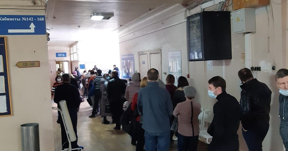 Огромные очереди образовались вавтозаводской поликлинике